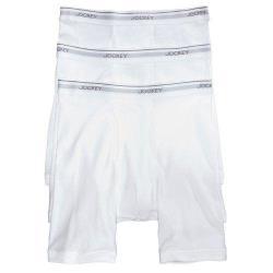 Jockey 2018男時尚創新白色修飾四角內著3件組(預購)