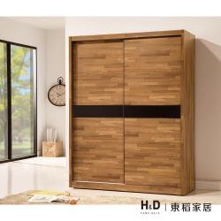 H&D 巴菲特5*7尺推門衣櫃