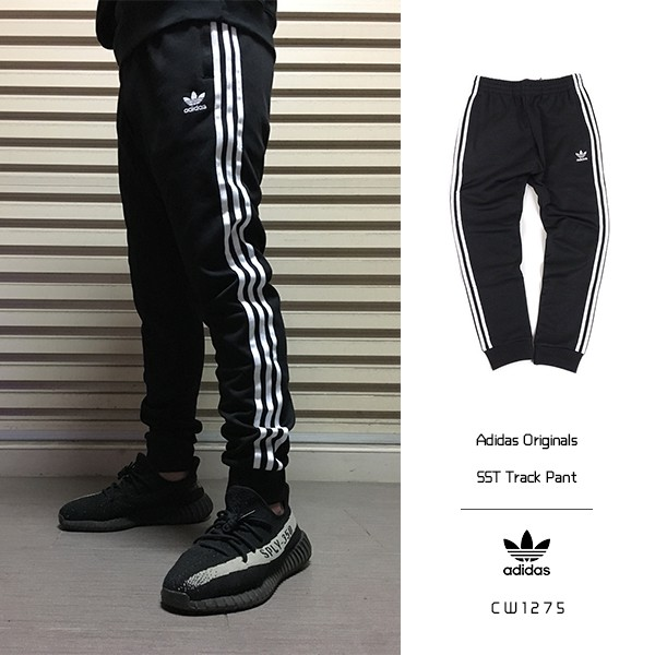 Adidas SST Track Pant 黑 白 三葉草 縮口褲 束口褲 長褲 運動 百搭 CW1275 IMPACT