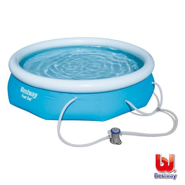 《Bestway》充氣快速設置泳池57269E-(69-72694)含過濾器