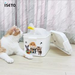 日本ISETO 日製寵物飼料零食密封收納桶-7L