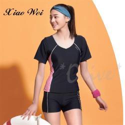 沙麗品牌 時尚流行短袖二件式泳裝 NO.H18114