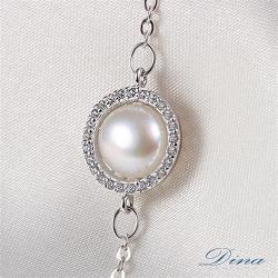 DINA JEWELRY蒂娜珠寶  時尚環珠 CZ鑽純銀手鍊 ( DML61558)