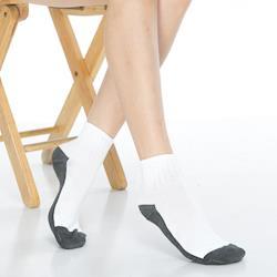 【KEROPPA】可諾帕1/2運動短襪*6雙(男女適用)C962-白灰色