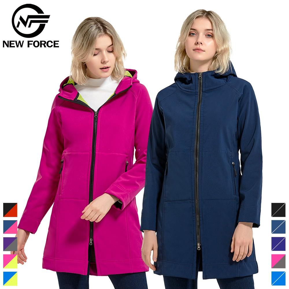 【NEW FORCE】中長版顯瘦防風雨保暖外套/兩種款可選
