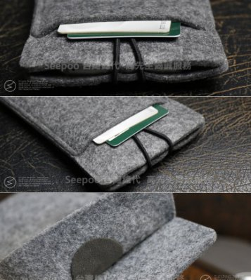 【Seepoo總代】2免運 羊毛氈 鴻海InFocus富可視 M550 3D 拉繩款 手機套 手機殼 手機袋 保護套 白
