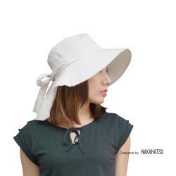 日本NakaHatsu超輕量純棉護頸蝴蝶遮陽帽