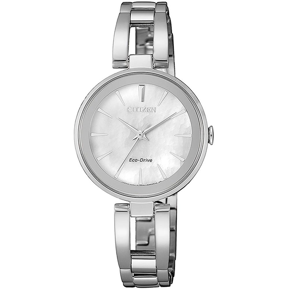 現貨快出 CITIZEN 星辰LADYS 光動能精巧女士腕錶-銀28MM(EM0631-83D)