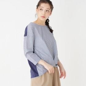 [マルイ]【セール】フロントタック異素材コンビシャツ/ピンクアドベ(pink adobe)