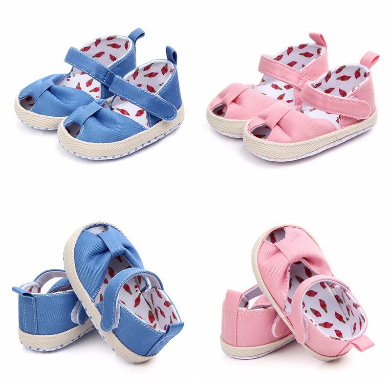 可愛的夏季嬰兒涼鞋棉花魚嘴休閒女嬰涼鞋嬰兒鞋【IU貝嬰屋】