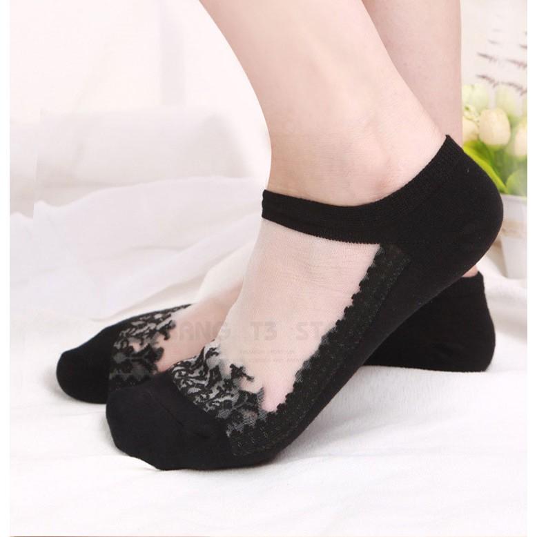 BANG 玻璃絲水晶隱形襪 韓國 蕾絲 隱形襪 女襪 短襪 蕾絲花邊襪 襪子【GO08】
