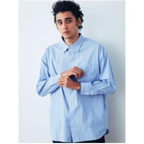 COTORICA. ストライプBIGシャツ(ブルー)