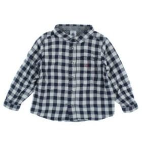 PETIT BATEAU  / プチバトー キッズ シャツ 色:紺x白(チェック) サイズ:24m/86cm