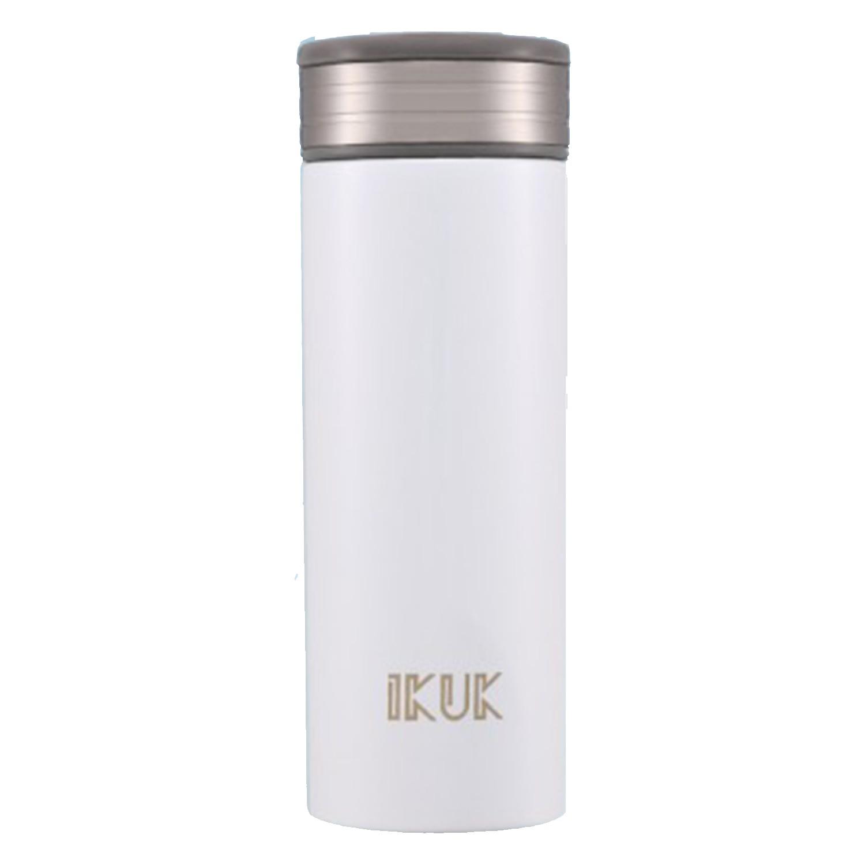 IKUK - 真空雙層好提火把陶瓷保溫杯-雪霧白 (520ML)