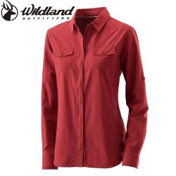 【Wildland 荒野】經典系列女拉鏈可調節抗UV襯衫-共5色