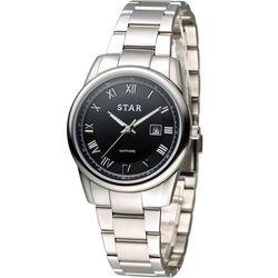 STAR 時代 時尚摩登仕女腕錶 1T1512-111S-D 黑