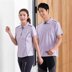 LEIDOOE紫底藍邊線男款短袖polo衫16597