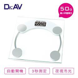【Dr.AV】PT-2626 超精準 冷光電子體重計