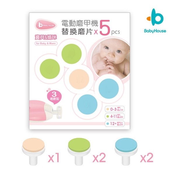 [Baby House] 愛兒房磨甲機專用磨甲片5入-替換磨頭