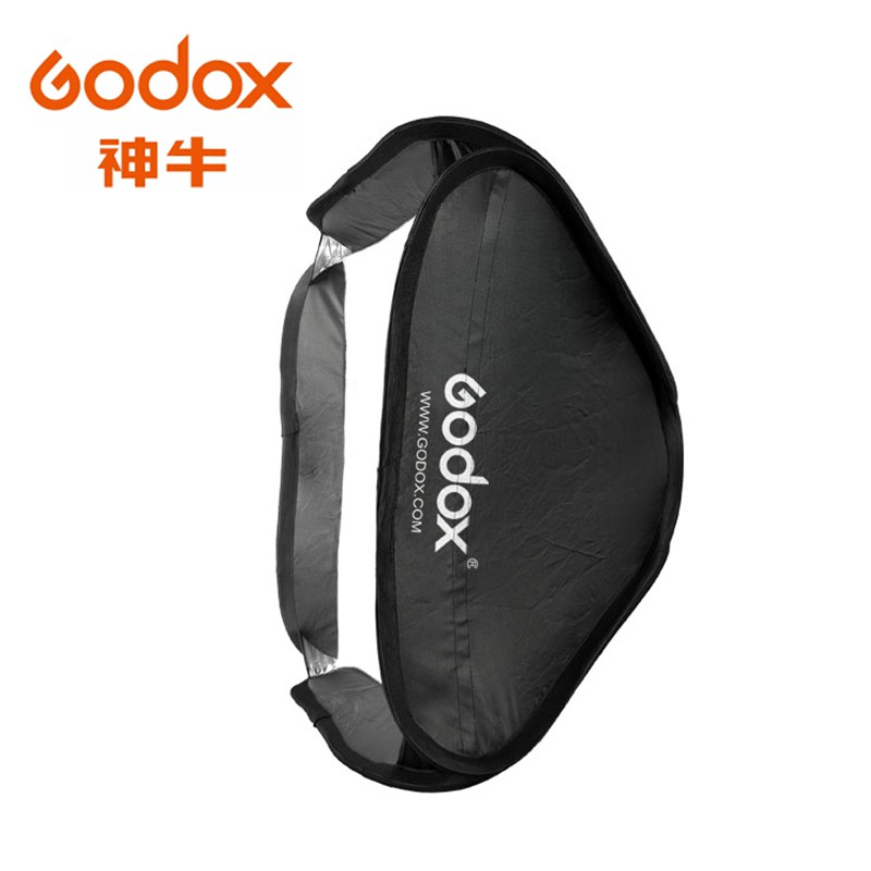 Godox 神牛 頂級黑邊銀色反光柔光箱60x60cm + SF閃燈支架 SF-6060 無影罩 相機專家 [公司貨]
