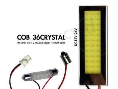 ◇光速LED精品◇ 12V~24v T10 31MM 36MM BA9S36晶 COB 面發光 室內燈 白光