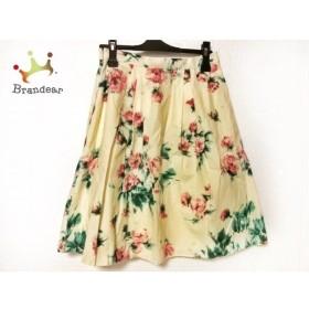 マックスマーラスタジオ スカート サイズ36 S レディース アイボリー×ピンク×グリーン 花柄 新着 20190619
