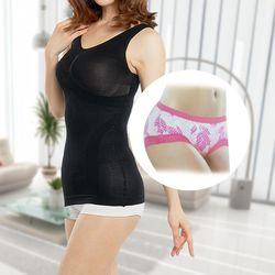 (馨苑)纖體按摩雕塑背心2件+時尚柔綿女內褲2件(超值4件組)