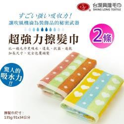 前漂色紗木代爾纖維超強力擦髮巾-樂芙款 (2條組) 台灣興隆毛巾製