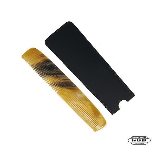 GOODFORIT / 美國Parker Horn Pocket Comb公牛角油頭口袋梳/附皮革收納袋