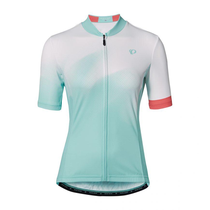 PEARL IZUMI W621-B-23 專業級合身女性短袖車衣(淺藍/漸層白)【7號公園自行車】