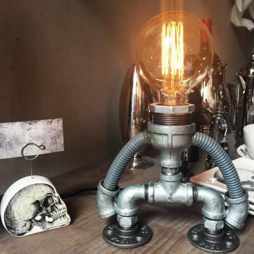 【曙】工業風檯燈 可調光 機器人桌燈 造型檯燈 loft 工業風 咖啡廳 民宿 餐廳 住家 設計