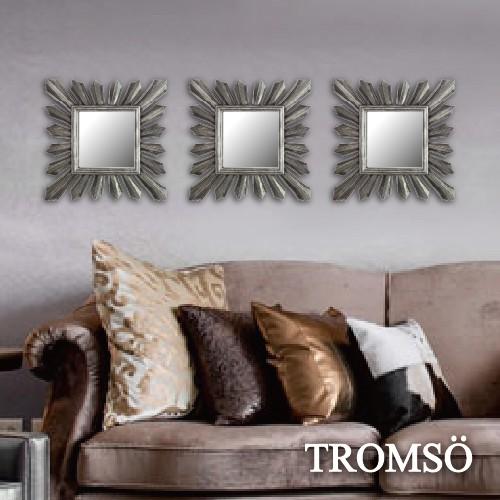 現貨 TROMSO時尚雅典娜裝飾鏡三入組-復古銀 /掛鏡 裝置藝術 店面設計 牆面鏡 【H0330001】M3