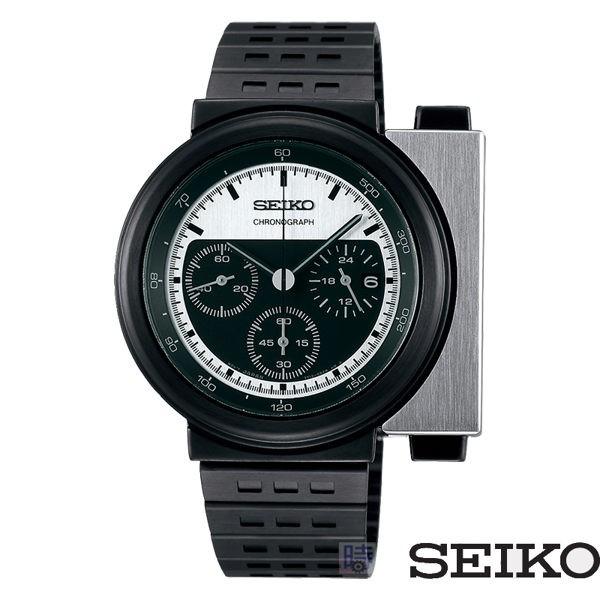 SEIKO 精工 SCED041J (7T12-0BP0D) 異形三眼計時錶