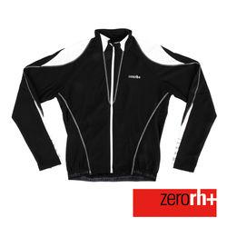 ZERORH+ 義大利競賽級專業刷毛長袖自行車衣(男)-黑色款
