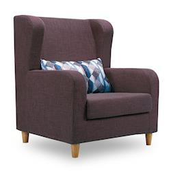 【時尚屋】[MT7]奧蘿拉單人座咖啡色沙發MT7-319-1免組裝/免運費/沙發