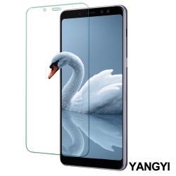 YANGYI 揚邑 Samsung Galaxy A8+ 2018 6吋 鋼化玻璃膜9H防爆抗刮防眩保護貼