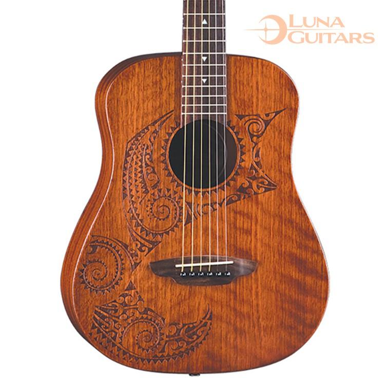 【全館折300】LUNA TATTOO 刺青 36吋 全桃花心木 旅行吉他 民謠吉他 木吉他 兒童吉他 吉他