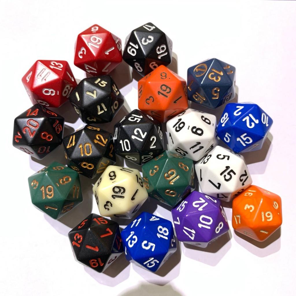 20面骰-幻彩 (顏色隨機出貨) 桌遊 桌上遊戲【卡牌屋】