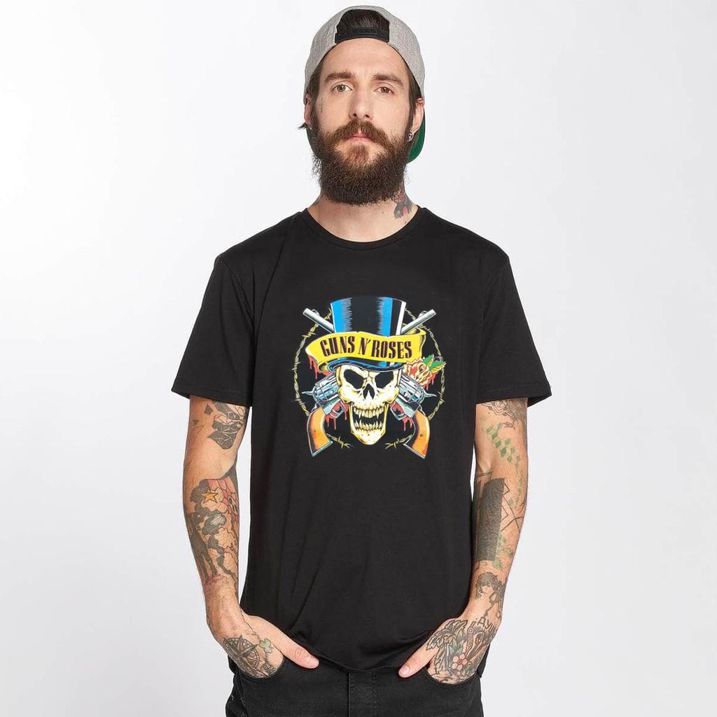 GNR Skull 短袖T恤 黑色 GUNS N ROSES 槍與玫瑰 樂團 搖滾 金屬 美國進口 ROCK【快速出貨】