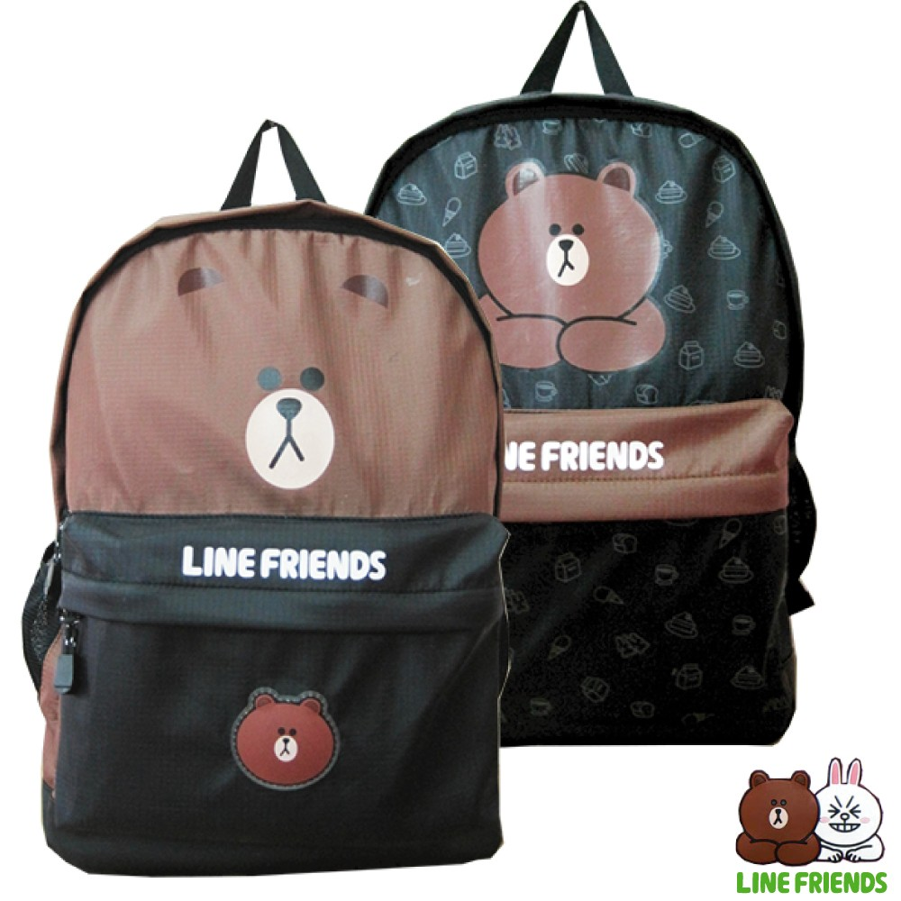 LINE FRIENDS 熊大休閒後背包(二款_LI-5456)