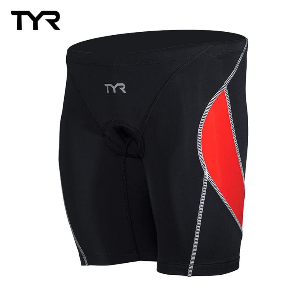 美國TYR VANGUARD 9 TRI PANTS Red男性成人三鐵短褲 - 紅 - 鐵人三項專用