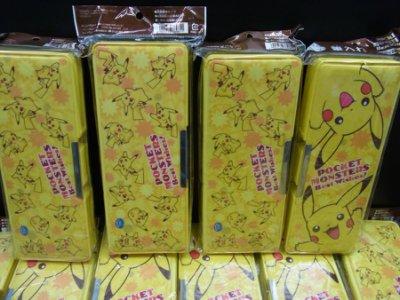 全新日本正版 神奇寶貝 皮卡丘雙面開鉛筆盒 pokemon 寶可夢 tretta 開學生日新年禮物伴手禮