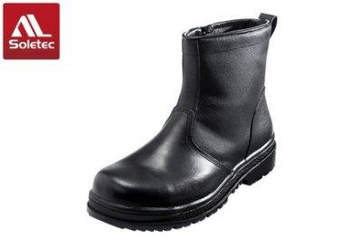 硬捍【Soletec 超鐵 安全工作鞋】E9807 H級工作安全鞋 鋼頭 鋼板 電銲 100%台灣製造 T形氣墊 防穿刺(安全工作鞋 休閒鞋 中筒拉鍊)