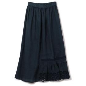 SHIPS for women / シップスウィメン 120% LINO:レースコンビマキシスカート