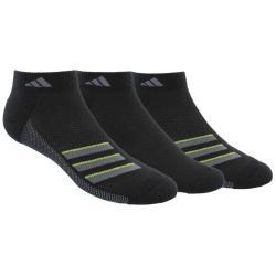 Adidas 2018男經典Superlite低切黑色運動短襪3入組