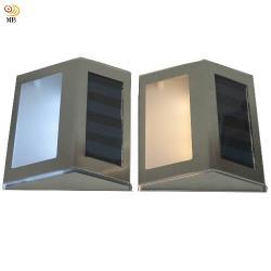 月陽不鏽鋼太陽能自動光控3LED台階燈璧燈庭園燈超值2入(ST1082)