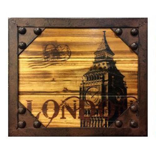 【酷鳥窩】LOFT 工業風|美式鄉村|復古|手作鐵木掛勾 (倫敦大笨鐘)