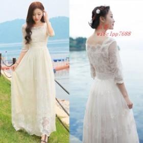 ウェディングドレス ウェディングドレス カラー ドレス マキシワンピ マキシワンピース 夏 花嫁二次会 春 ドレス ワンピース 花嫁ドレス