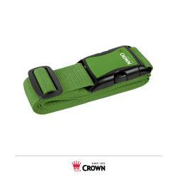 CROWN 皇冠 螢光彩色 防盜防爆箱行李箱束帶- 綠色
