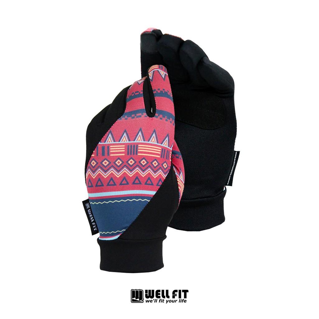 【威飛客WELL FIT】抗UV FIT 50+ 印花觸控防曬手套 - 兩色 涼感|透氣|防滑 防曬 抗UV 機車手套